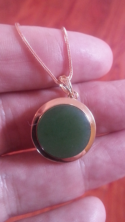 Jade fiend a simple and elegant round gold and jade pendant small round gold and green jade pendant 2 mozeypictures Gallery